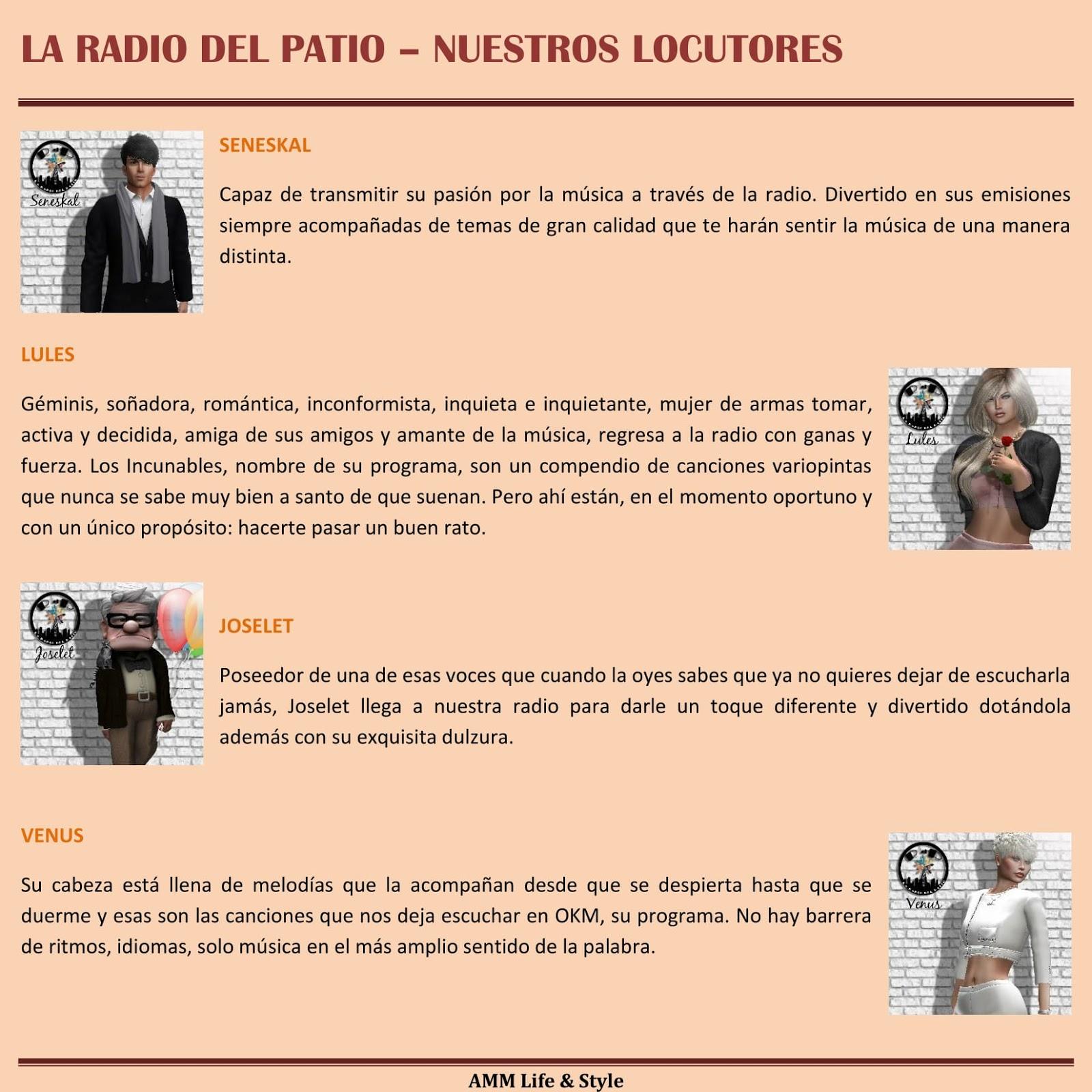 AMM Life & Style: AMM NUM 51 - LA RADIO DE EL PATIO ...