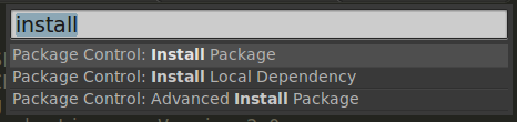 open install package control sublime