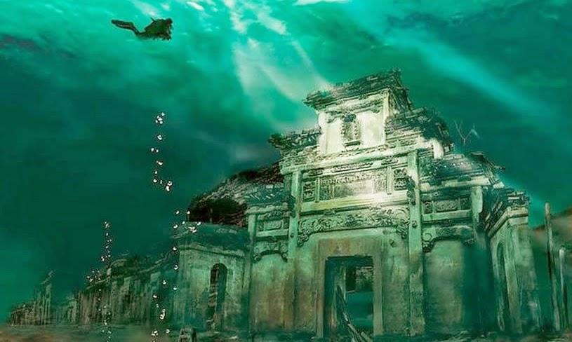 atlantean gardens china s atlantis lost underwater lion city