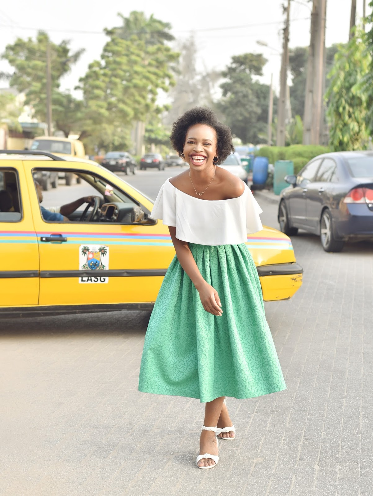 Fashion Shoot with Yellow Lagos Taxi
