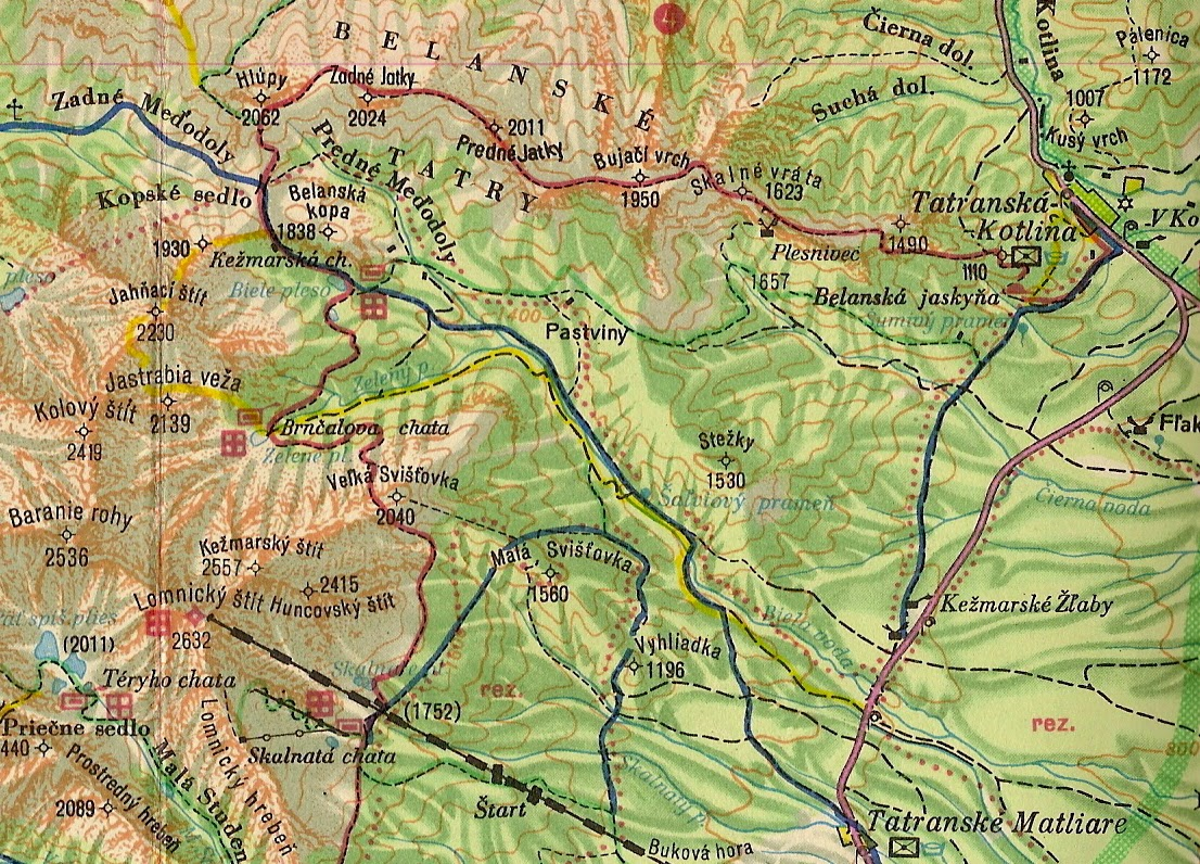 Magas Tatra Info A Belai Tatra Egykori Turistautjai