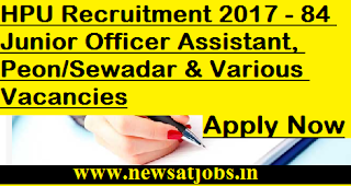 HPU-jobs-84-Jr-Assistant-Peon-Sewadar-Vacancies