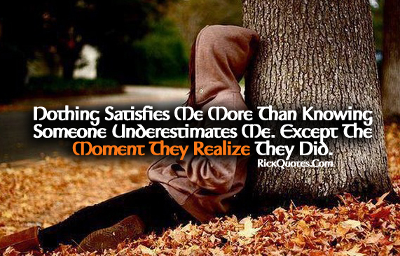 Life Quotes | Someone Underestimates Me Girl Alone Lonely Under tree