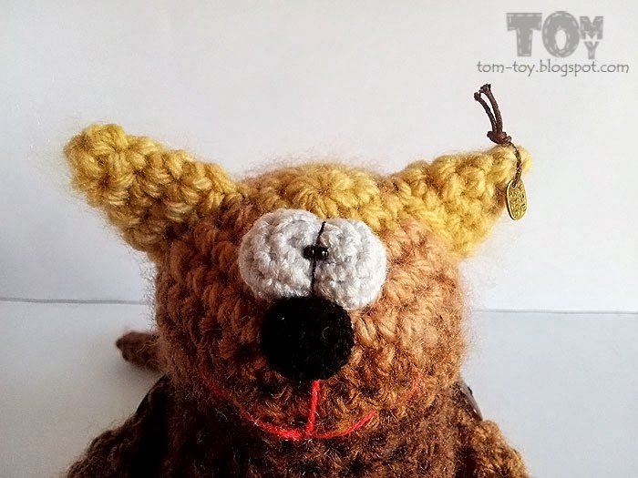 Crochet coffee cat