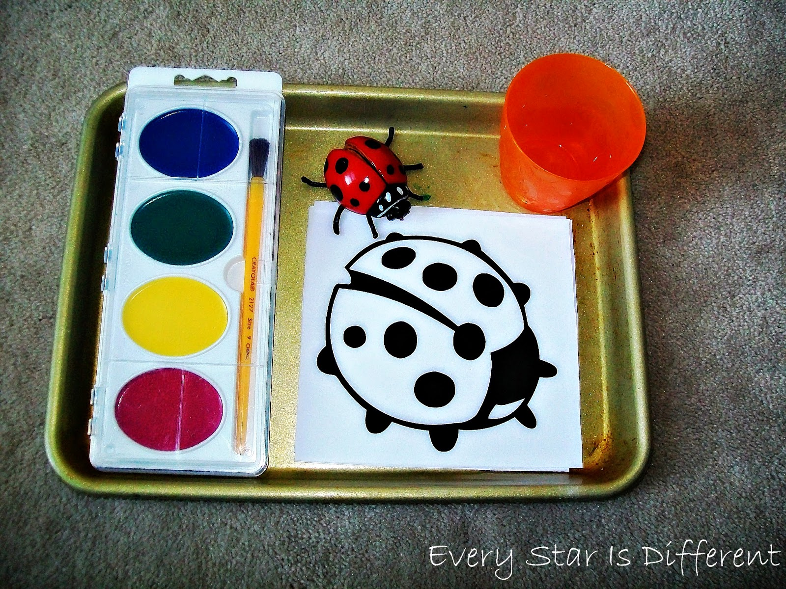 Ladybugs are Red Painting Activity for Kids