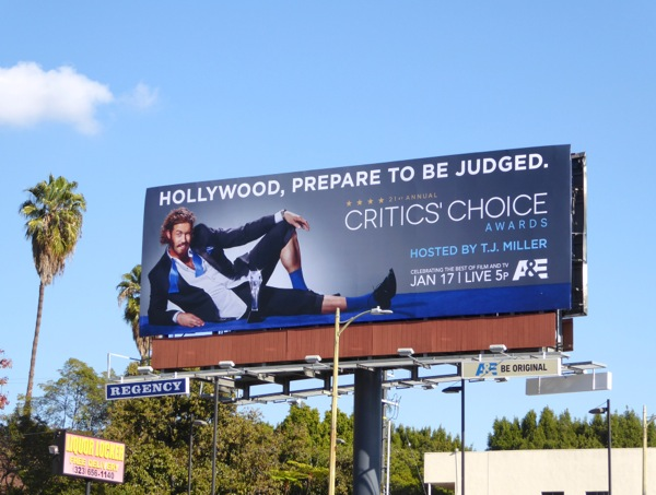 21st Annual Critics Choice Awards billboard