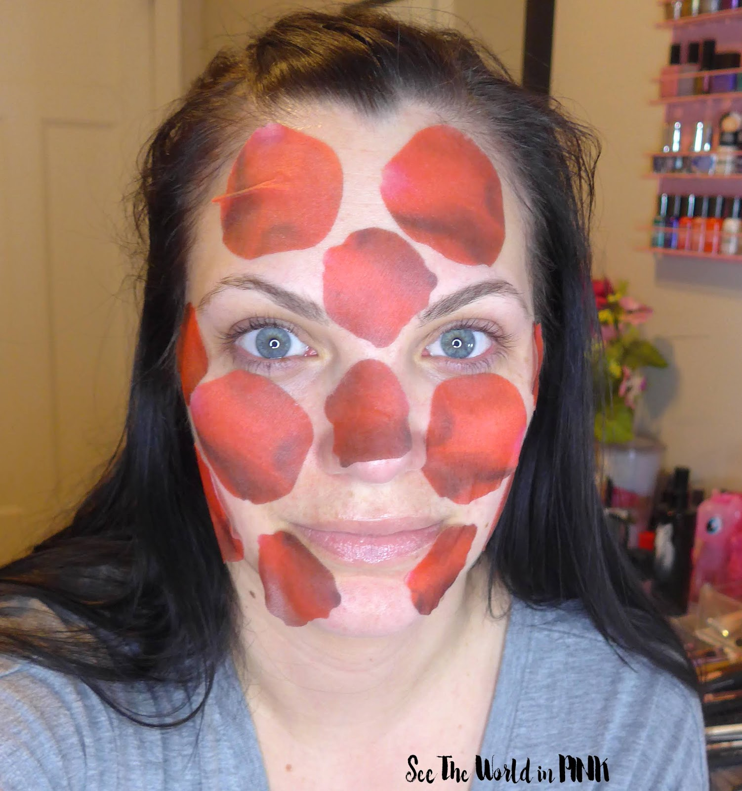 #CBBGetsSheetFaced Kocostar Rose Mask