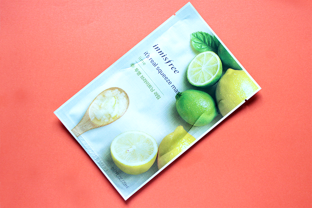 Innisfree It's Real Squeeze Mask Lime review
