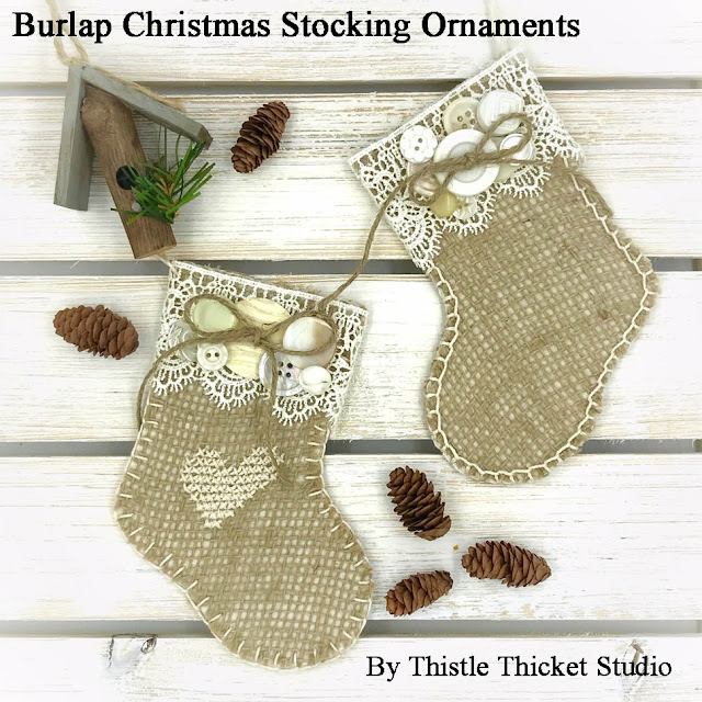 burlap, christmas stocking, Christmas ornaments, Christmas craft, crafts, DIY, Christmas Decor