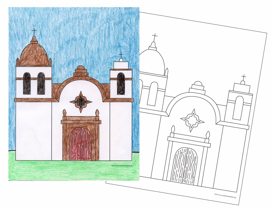ca missions coloring pages - photo #26