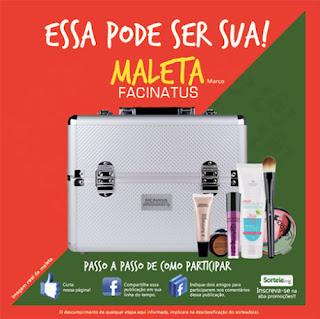 Promoção Facinatus Cosméticos Maleta de Maquiagem