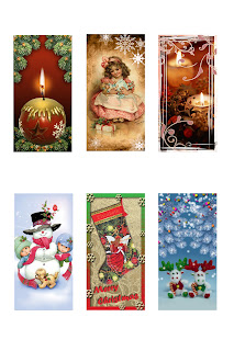 Freebie collage sheet. Christmas time.