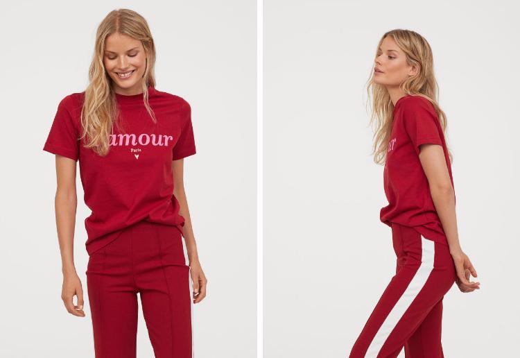 L'amour T-shirt Top H&M