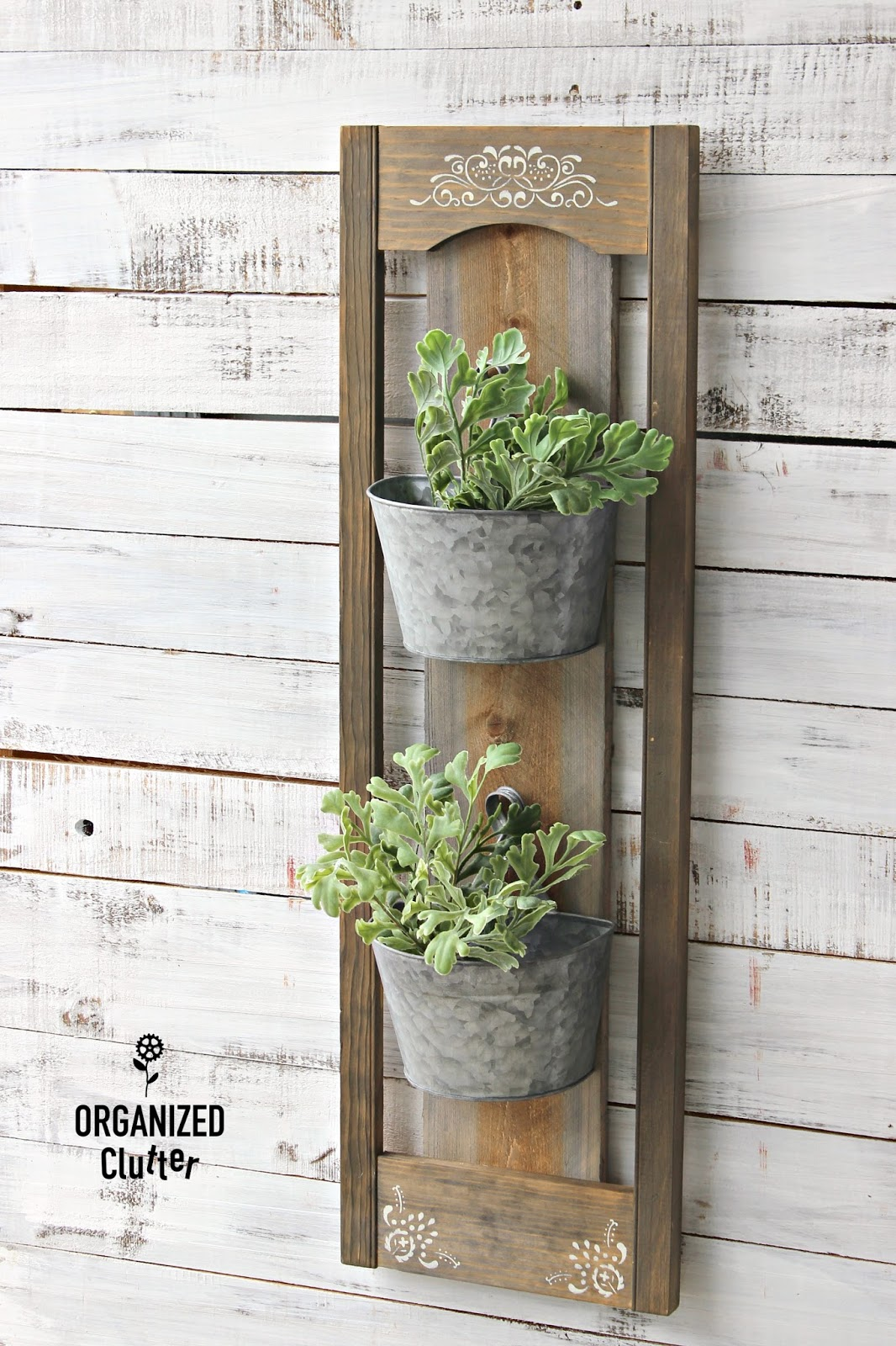 Rustic Diy Wall Planter For Inside Or Outside Organized