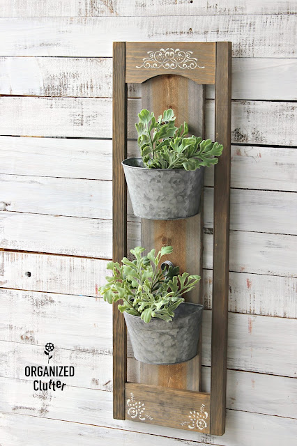 Rustic DIY Wall Planter Inside or Out