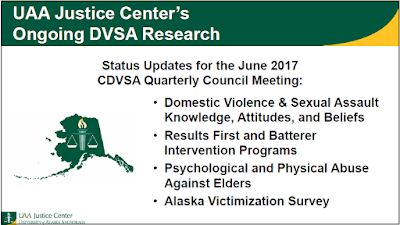 UAA Justice Center's Ongoing DVSA Research