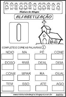 Atividades de alfabetização letra I