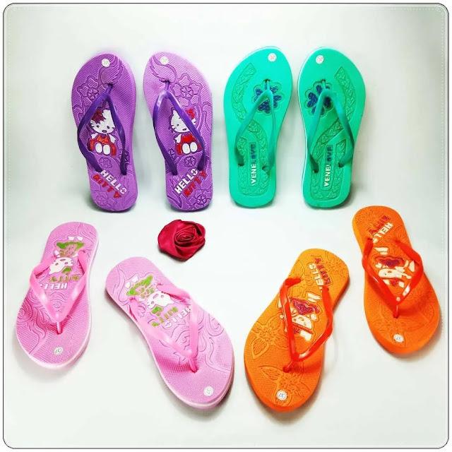 Sandal Wanita Termurah | Grosir Sandal Jepit Hellokitty Press Wanita