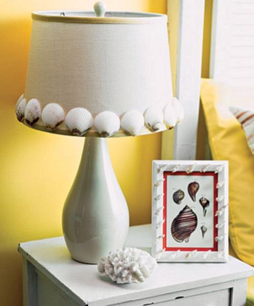 DIY Seashell Lampshade
