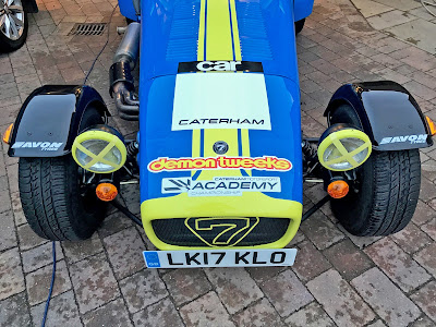 2017 Caterham Academy Car nose cone with sponsors decals fitted