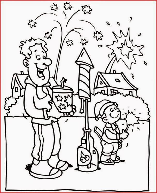 The Holiday Site: Happy New Year's Coloring pages