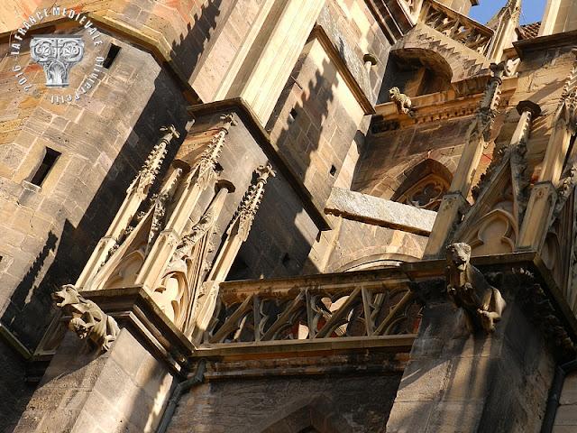 COLMAR (68) - Collégiale Saint-Martin (XIIe-XVe siècles) (Extérieur)