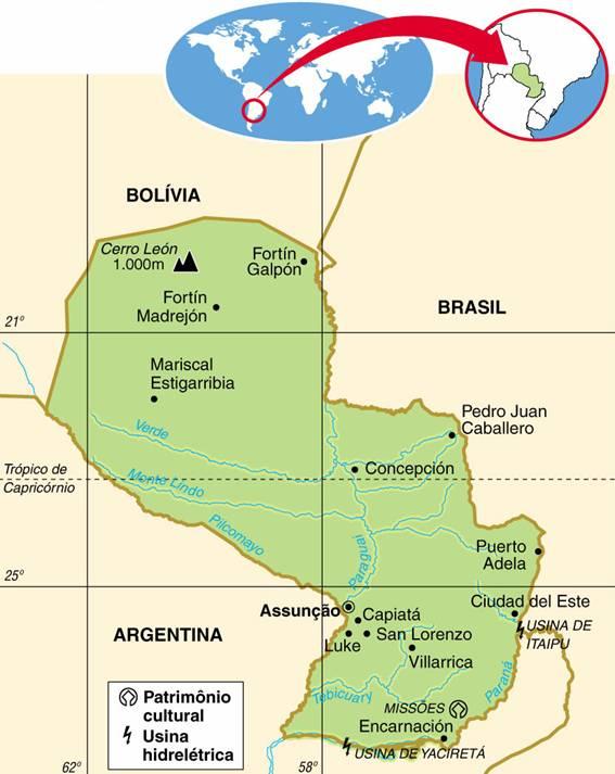PARAGUAI, ASPECTOS GEOGRÁFICOS E SOCIOECONÔMICOS DO PARAGUAI