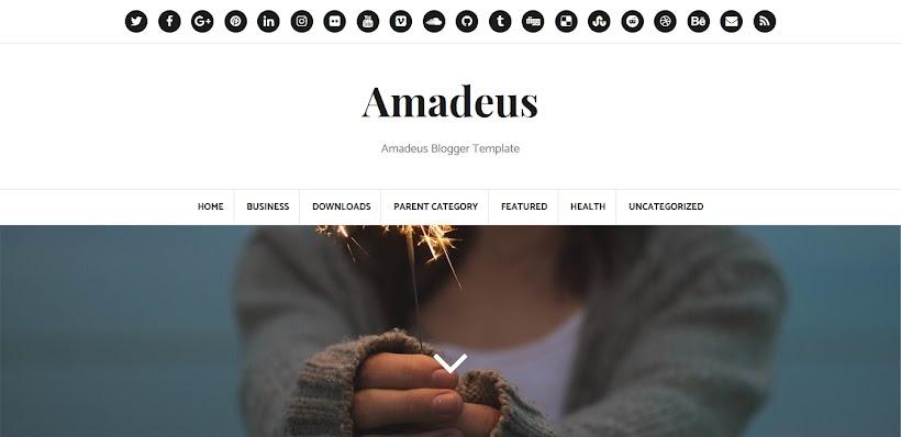 Amadeus Free Blogger Template