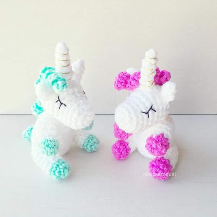 Patrón Amigurumi Unicornio Bebé - Sueños Blanditos | 720x720