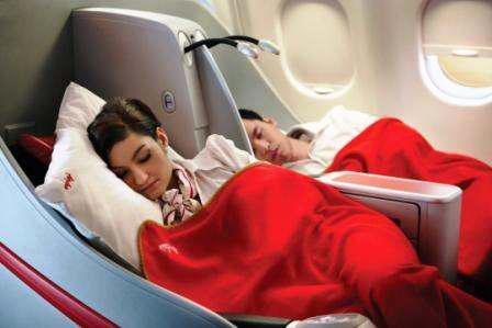 AirAsiaX Premium Flatbed Seats