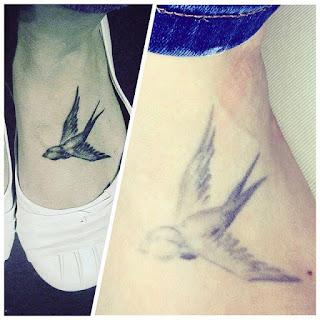 Tatuaje que se desvanece con el tiempo
