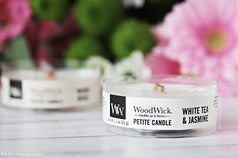 świeca woodwick white tea & jasmine petite candle