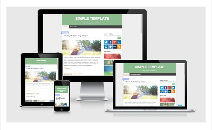 Simple Responsive Blogger Template by Josh Peterson | YATMO TUMINI