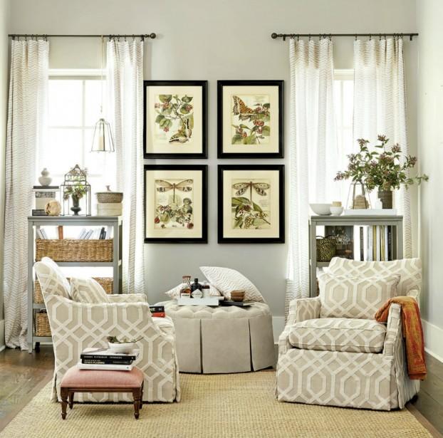 Salas blancas decoradas con plantas colores en casa for Salotti colorati