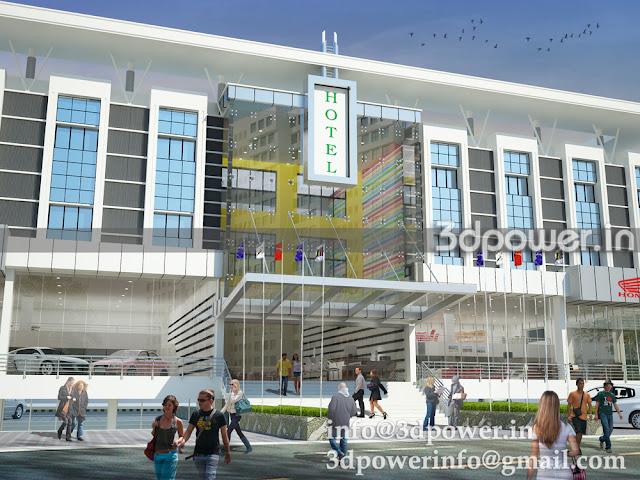 3D Rendering Hotel Design