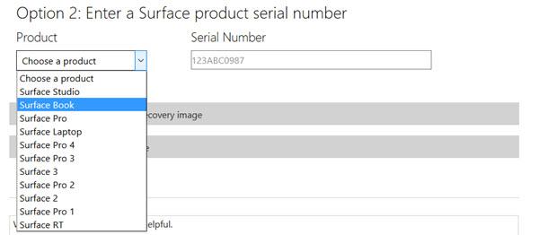 Cara memperbaiki kasus Surface Go menggunakan USB Recovery Disk