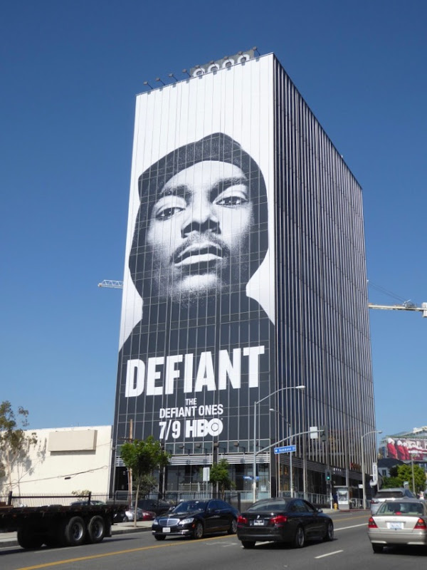 Giant Snoop Dog Defiant HBO billboard Sunset Strip
