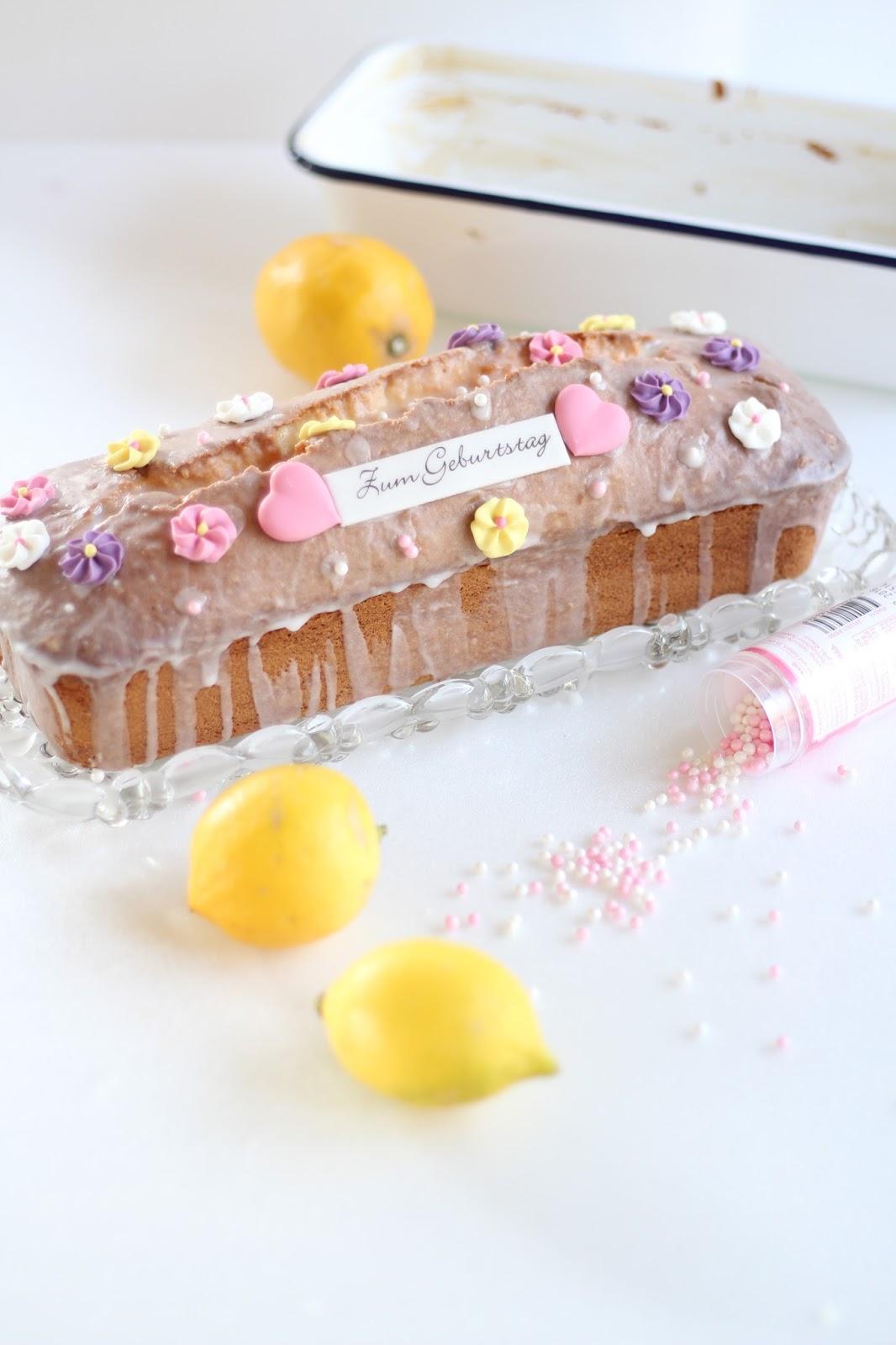 Sugarprincess: Saftiger Zitronenkuchen - einfaches, schnelles Rezept mit Video: Mein Geburtstagskuchen für Dorothea