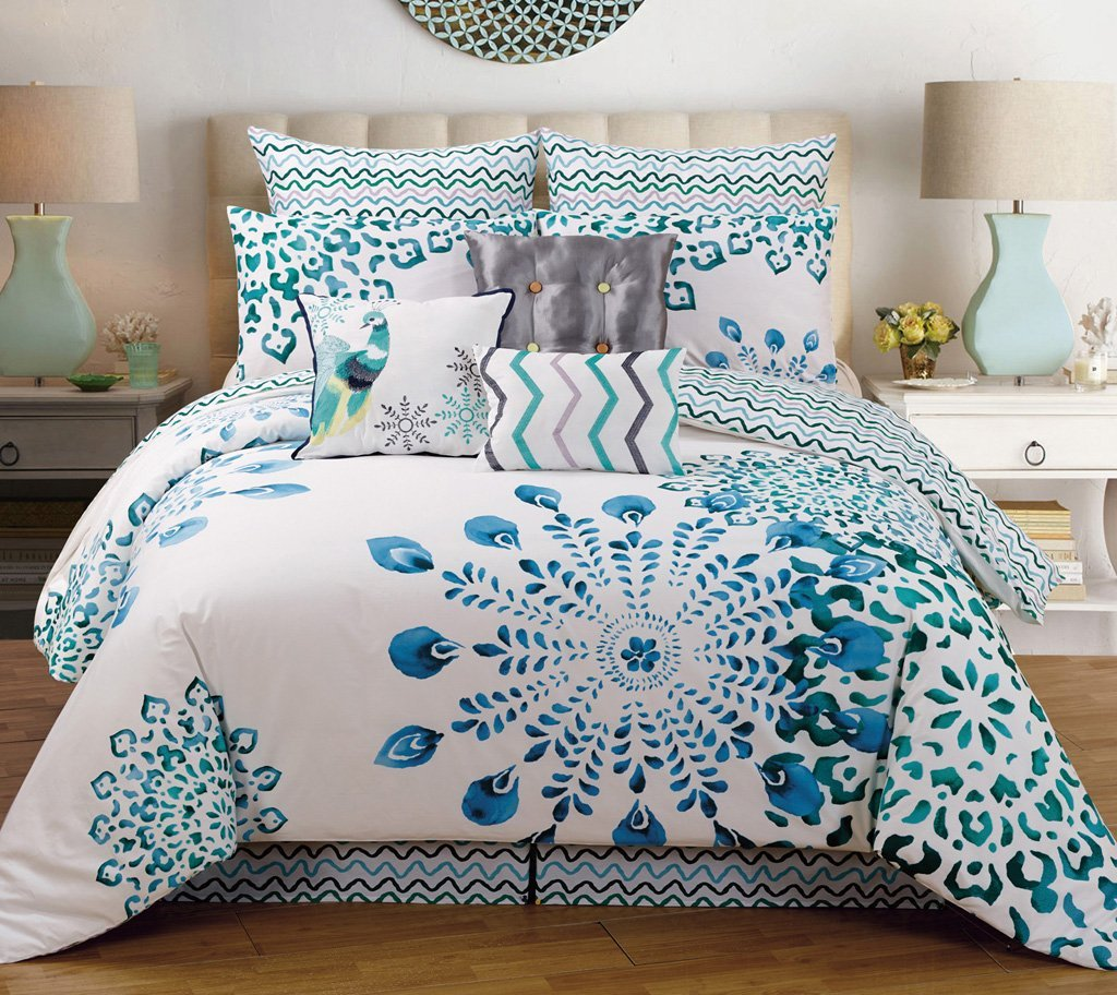 Top Peacock Themed & Peacock Colored Comforter and Bedding Sets MB26