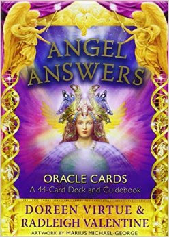 Angels Answers Doreen Virtue oracle card review by Rohit Anand, author of numerous bestselling angel card decks, pairs the power of crystals and angels in these beautiful oracle cards
