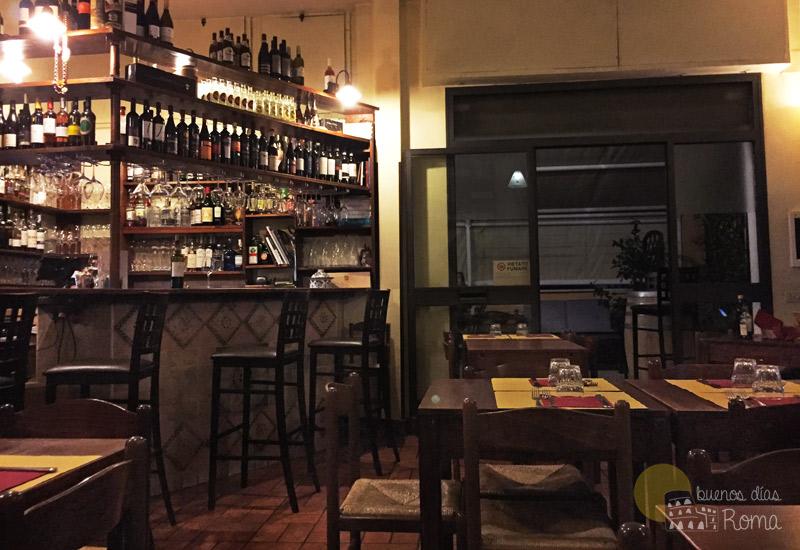 Interior del restaurante L'Idillio Roma