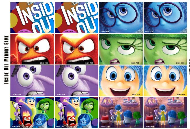 Inside Out Free Printable Memory Game Oh My Handicrafts