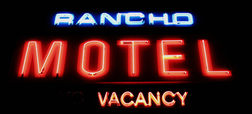 Rancho Motel Neon Sign Medicine Hat