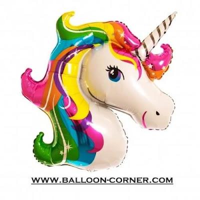 Balon Foil Rainbow Unicorn JUMBO
