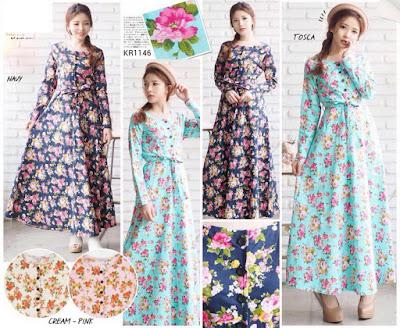 maxi dress umbrella shabby chic gamis muslimah modern