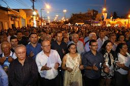 Governador visita Ribeirópolis e participa de procissão em louvor ao Sagrado Coração de Jesus