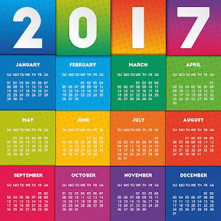 2017カレンダー無料テンプレート74