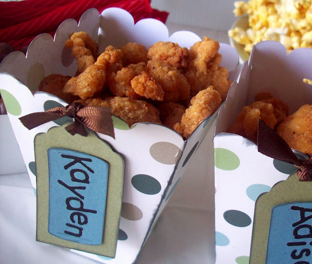 #ad Popcorn cup Tutorial with Popcorn Chicken #Tyson2Nite
