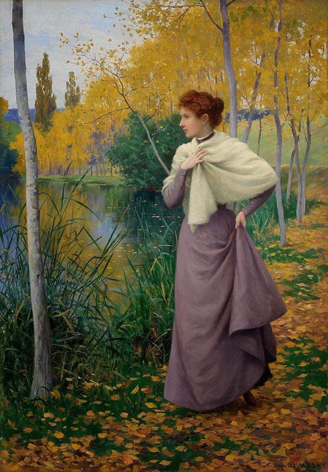 Леопольд Франц Ковальски Leopold Franz Kowalski Осень на берегу озера