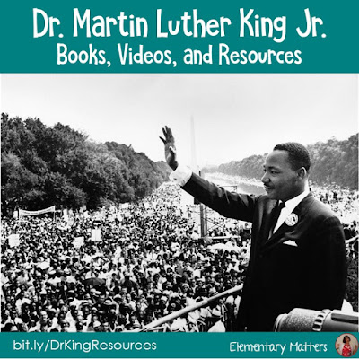 Martin Luther King Jr. Resources: This great man represented solving conflicts in a peaceful manner. Here are several books and video suggestions to help your students learn about Dr. King.